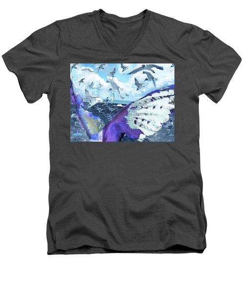 Scream Of The Gulls Men's V-Neck T-Shirt by Seth Weaver