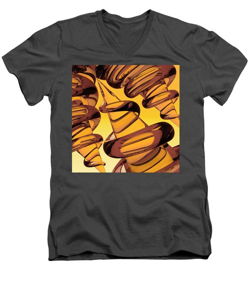 Screwed Two Men's V-Neck T-Shirt by Peter J Sucy