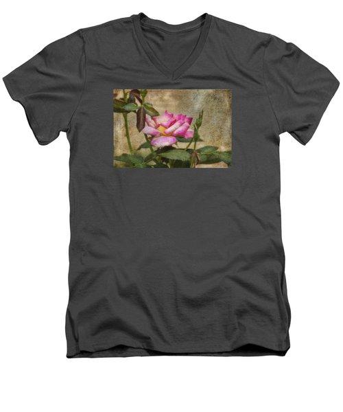 Scripted Rose Men's V-Neck T-Shirt