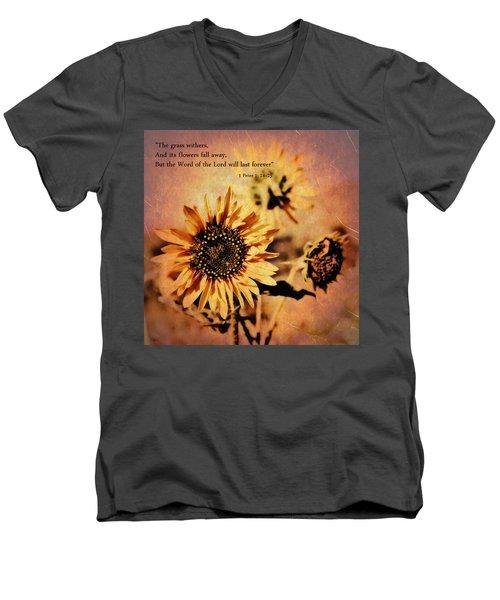 Scripture - 1 Peter One 24-25 Men's V-Neck T-Shirt
