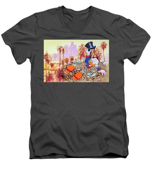 Scrooge In La Men's V-Neck T-Shirt