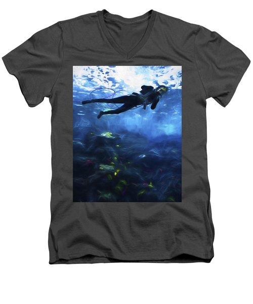 Scuba Diver Men's V-Neck T-Shirt