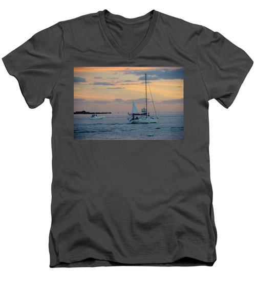 Sd Sunset 3 Men's V-Neck T-Shirt