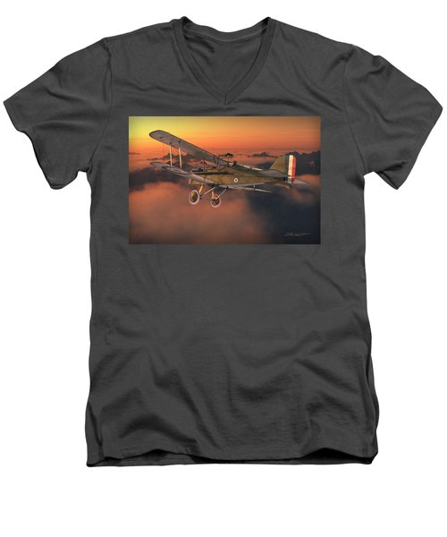 S.e. 5a On A Sunrise Morning Men's V-Neck T-Shirt by David Collins