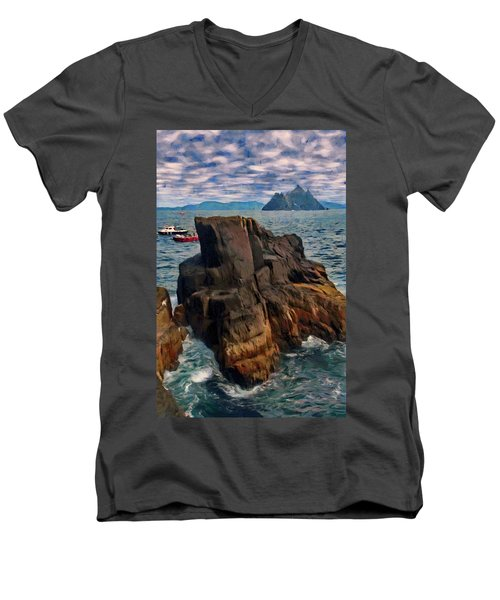 Sea And Stone Men's V-Neck T-Shirt by Jeff Kolker