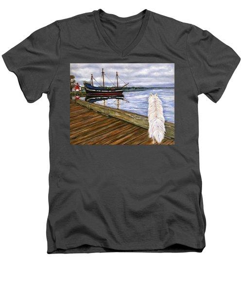 Sea Dog Men's V-Neck T-Shirt