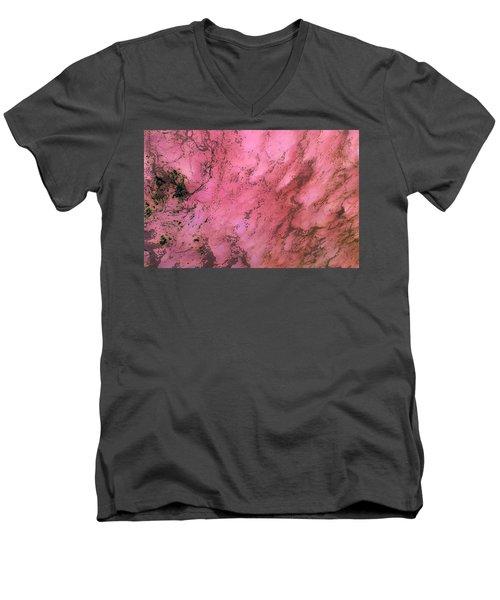 Sea Foam In Pink Men's V-Neck T-Shirt
