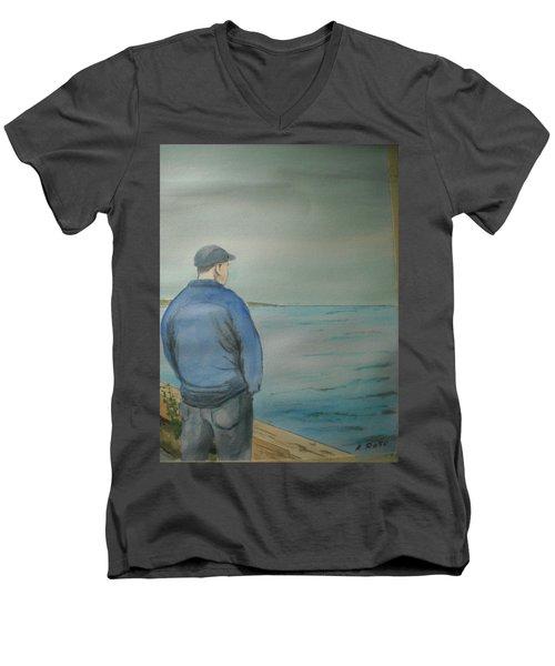 Sea Gaze Men's V-Neck T-Shirt by Anthony Ross