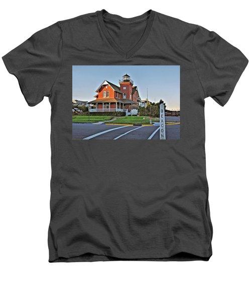 Sea Girt Light Station Men's V-Neck T-Shirt