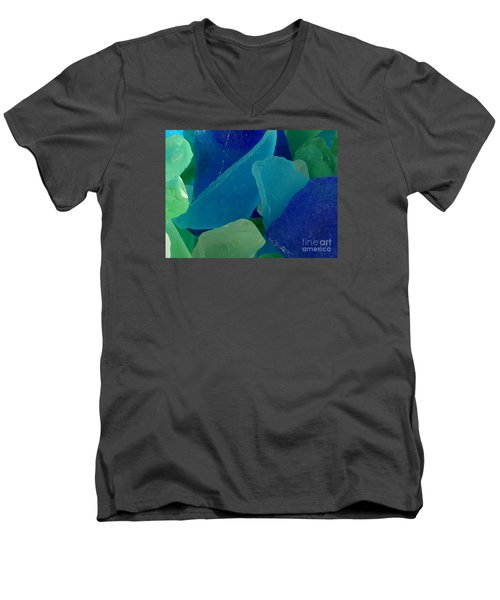 Men's V-Neck T-Shirt featuring the photograph Sea Glass by Chad and Stacey Hall