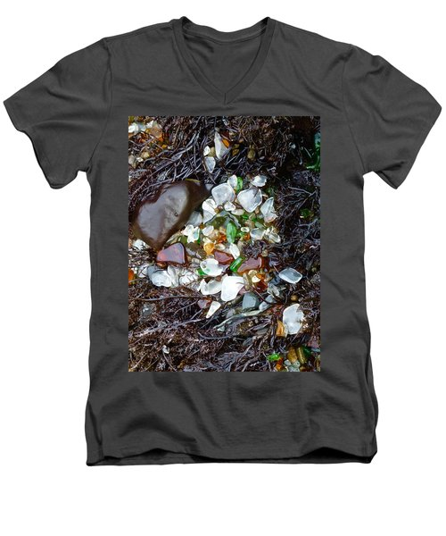 Sea Glass Nest Men's V-Neck T-Shirt by Amelia Racca