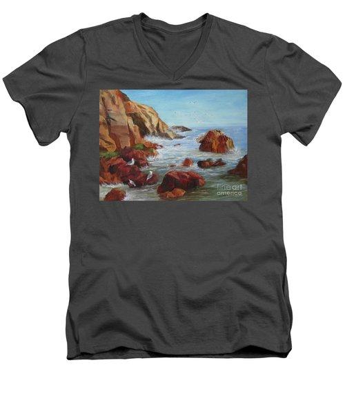 Sea Gulls Men's V-Neck T-Shirt