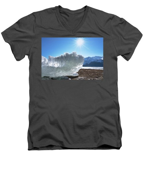 Sea Ice Glowing With The Sun Men's V-Neck T-Shirt