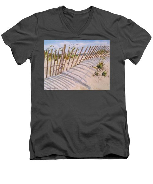 Sea Oats And Shadows Men's V-Neck T-Shirt