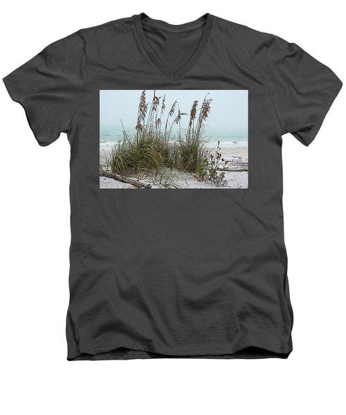Sea Oats In Light Fog Men's V-Neck T-Shirt
