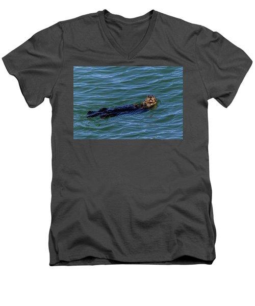 Sea Otter Men's V-Neck T-Shirt