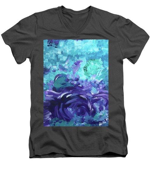 Sea Purple Men's V-Neck T-Shirt