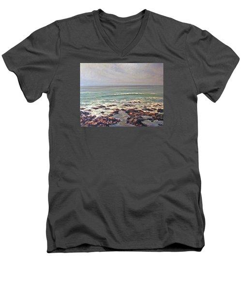 Sea Rocks Men's V-Neck T-Shirt