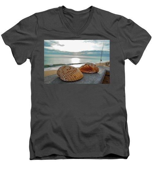 Sea Shells Men's V-Neck T-Shirt by Josy Cue
