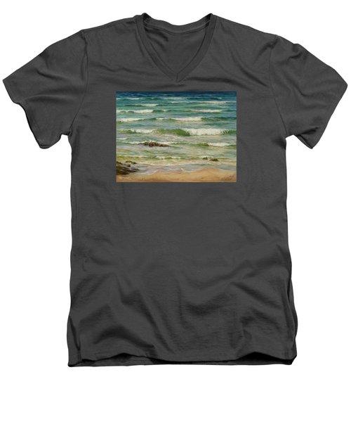 Sea Symphony. Part 1. Men's V-Neck T-Shirt
