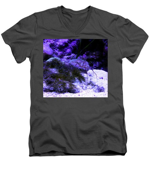 Men's V-Neck T-Shirt featuring the photograph Sea Spider by Francesca Mackenney