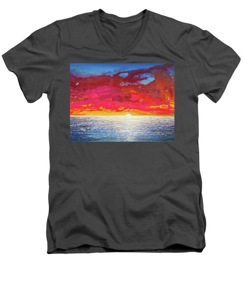 Sea Splendor Men's V-Neck T-Shirt by Mary Ellen Frazee