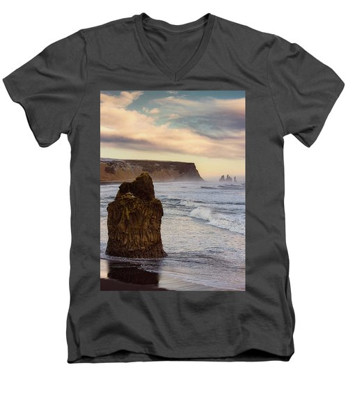Sea Stack II Men's V-Neck T-Shirt by Allen Biedrzycki