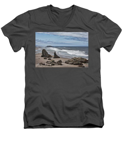 Sea Stacks And Surf Men's V-Neck T-Shirt