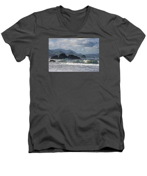 Sea Stacks And Surf Men's V-Neck T-Shirt