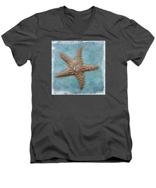 Sea Star Men's V-Neck T-Shirt by David and Carol Kelly