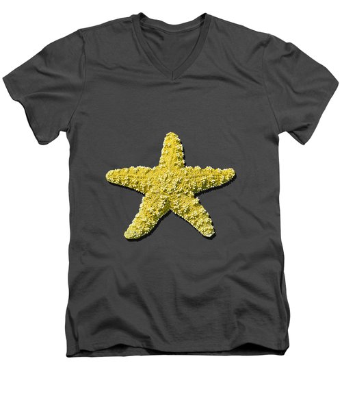 Sea Star Yellow .png Men's V-Neck T-Shirt by Al Powell Photography USA