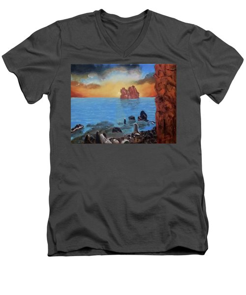 Sea Sunset Men's V-Neck T-Shirt