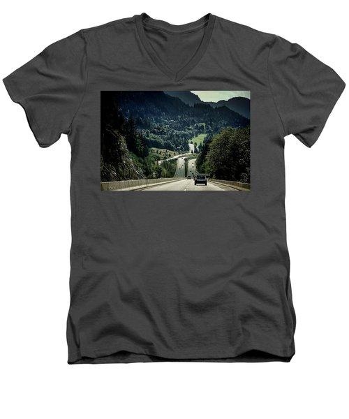 Sea To Sky Highway Men's V-Neck T-Shirt