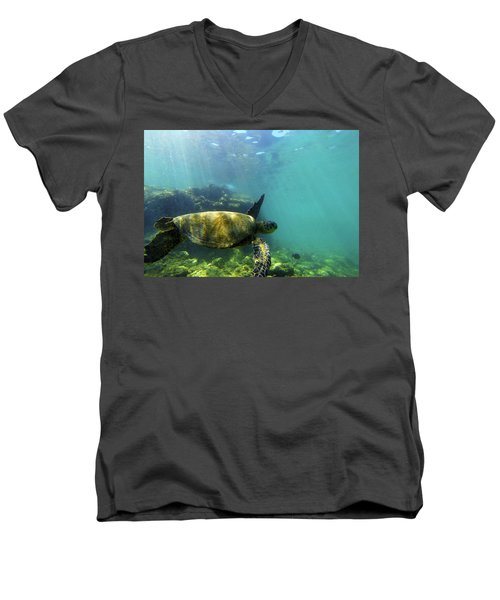 Men's V-Neck T-Shirt featuring the photograph Sea Turtle #5 by Anthony Jones