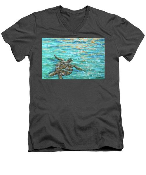 Sea Turtle Dream Men's V-Neck T-Shirt