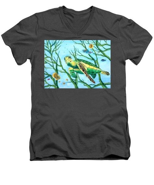 Sea Turtle Series #3 Men's V-Neck T-Shirt