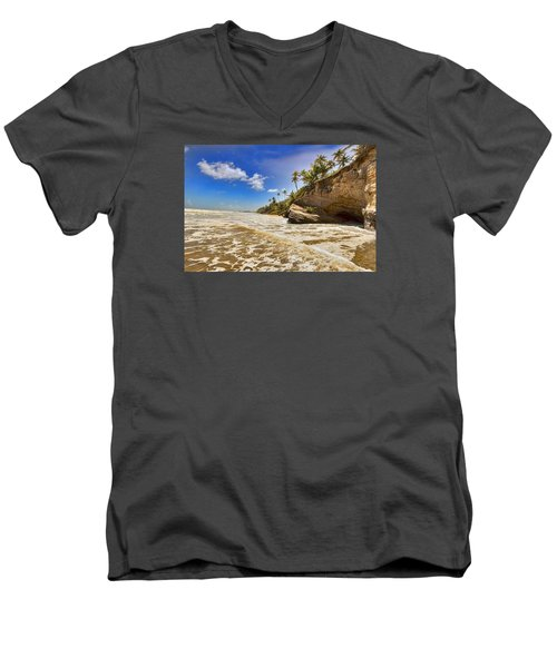 Sea Waves Men's V-Neck T-Shirt