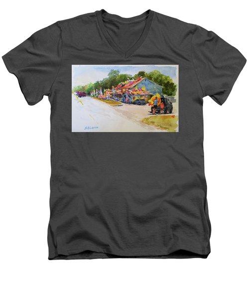 Seaberry Surf Gifts, Wellfleet Men's V-Neck T-Shirt