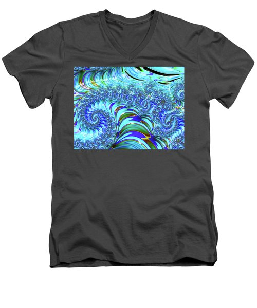 Seaglass Dragon Men's V-Neck T-Shirt