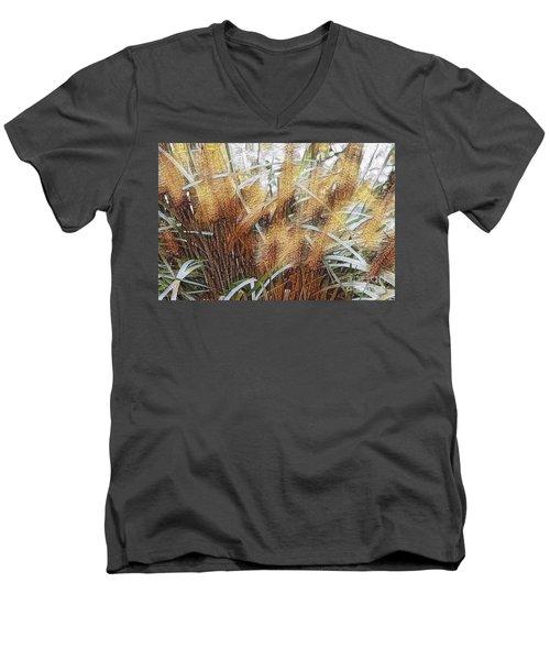 Seagrass Men's V-Neck T-Shirt by Judy Palkimas