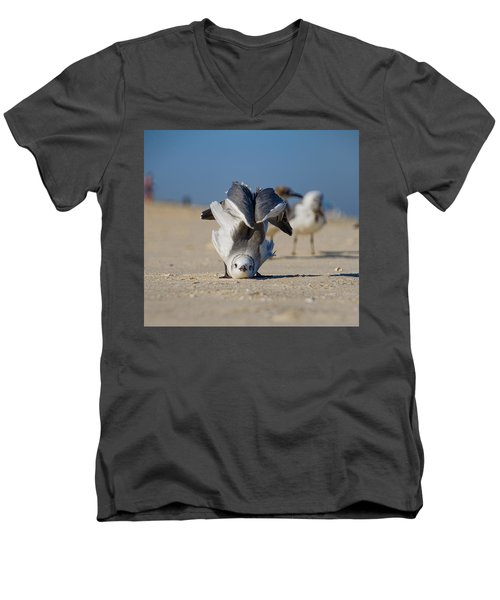 Seagull Yoga Men's V-Neck T-Shirt