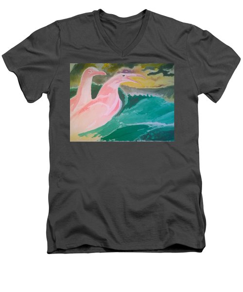 Seagulls Men's V-Neck T-Shirt
