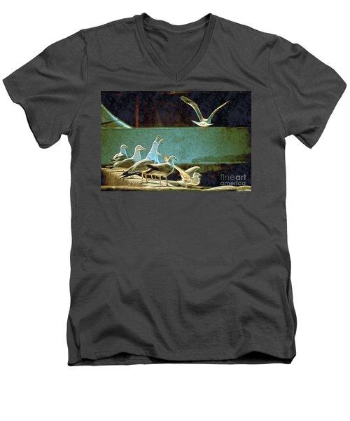 Seagulls On The Beach Men's V-Neck T-Shirt