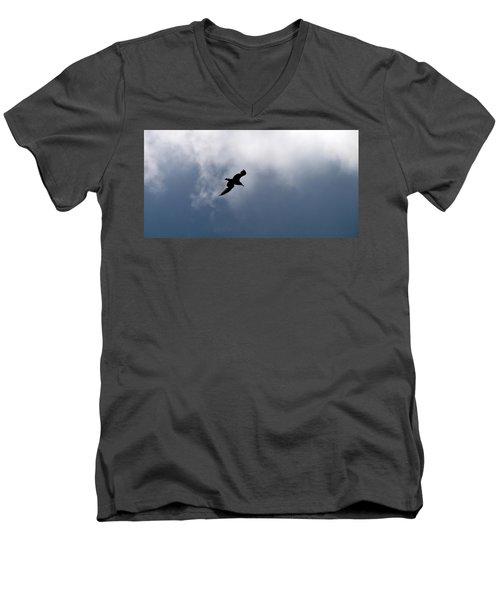 Men's V-Neck T-Shirt featuring the photograph Seagull's Sky 1 by Jouko Lehto