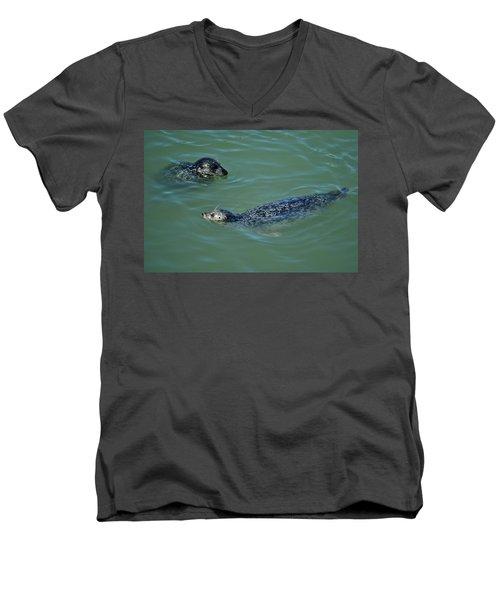 Sealion Friends Men's V-Neck T-Shirt