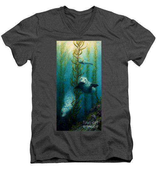 Seals Of The Sea Men's V-Neck T-Shirt by Ruanna Sion Shadd a'Dann'l Yoder