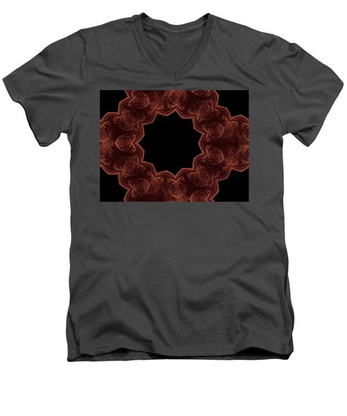 Seamless Kaleidoscope Copper Men's V-Neck T-Shirt