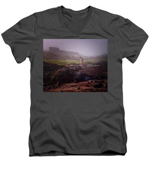 Searching For Shells Men's V-Neck T-Shirt