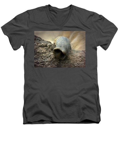 Men's V-Neck T-Shirt featuring the photograph Searching by Lisa L Silva