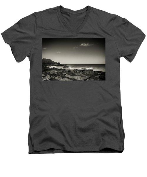 Seaside Solitude Men's V-Neck T-Shirt
